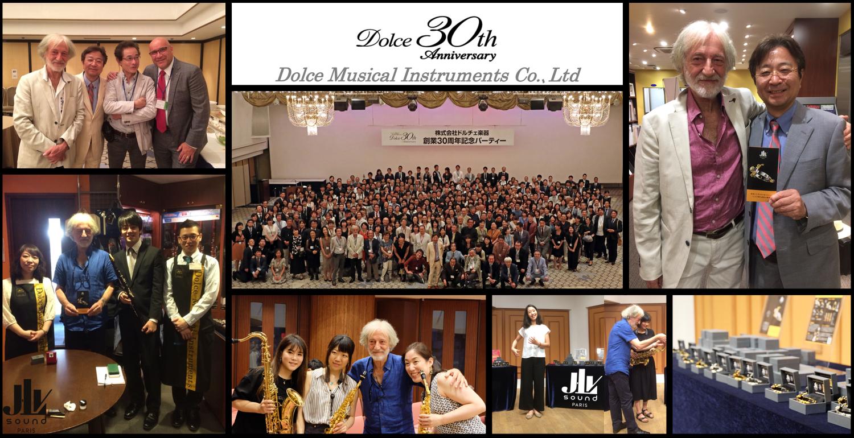 Photo des invités présent lors du 30ème anniversaire de Dolce Musical Instruments Co. à Tokyo au Japon