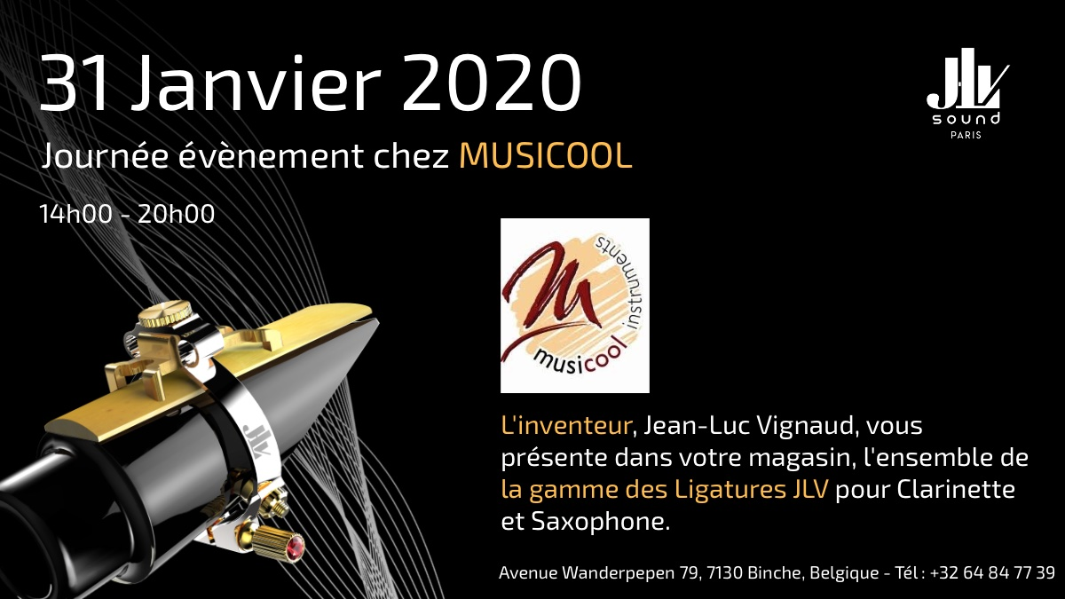 Musicool 31 janvier 2020 présentation de la gamme des Ligatures JLV