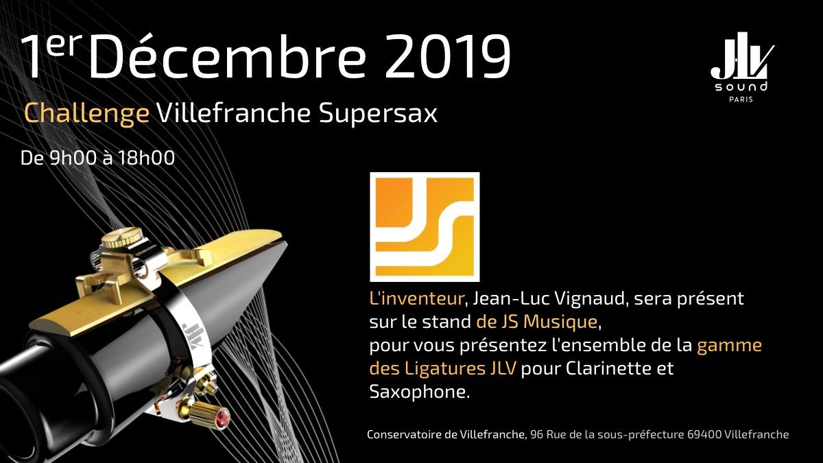 Le salon du saxophone le 1er décembre 2019 présentation de la gamme des Ligatures JLV