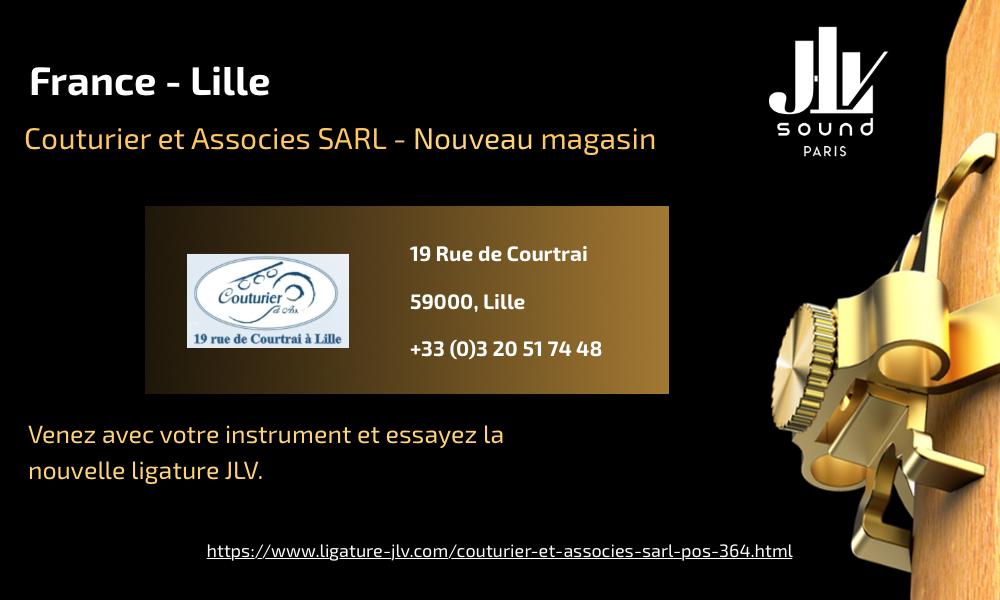 Communication nouveau magasin partenaire JLV Couturier & Associés