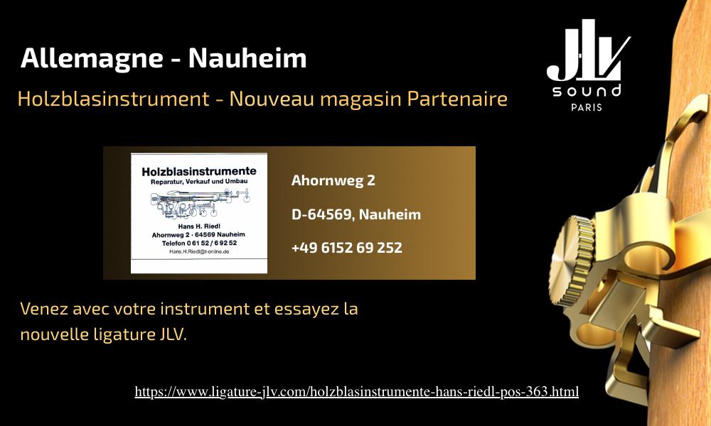 Communication nouveau magasin partenaire JLV Holzblasinstrumente