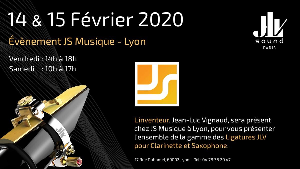 14 et 15 février 2020 chez JS Musique découvrez la gamme des Ligatures JLV pour clarinette et saxophone