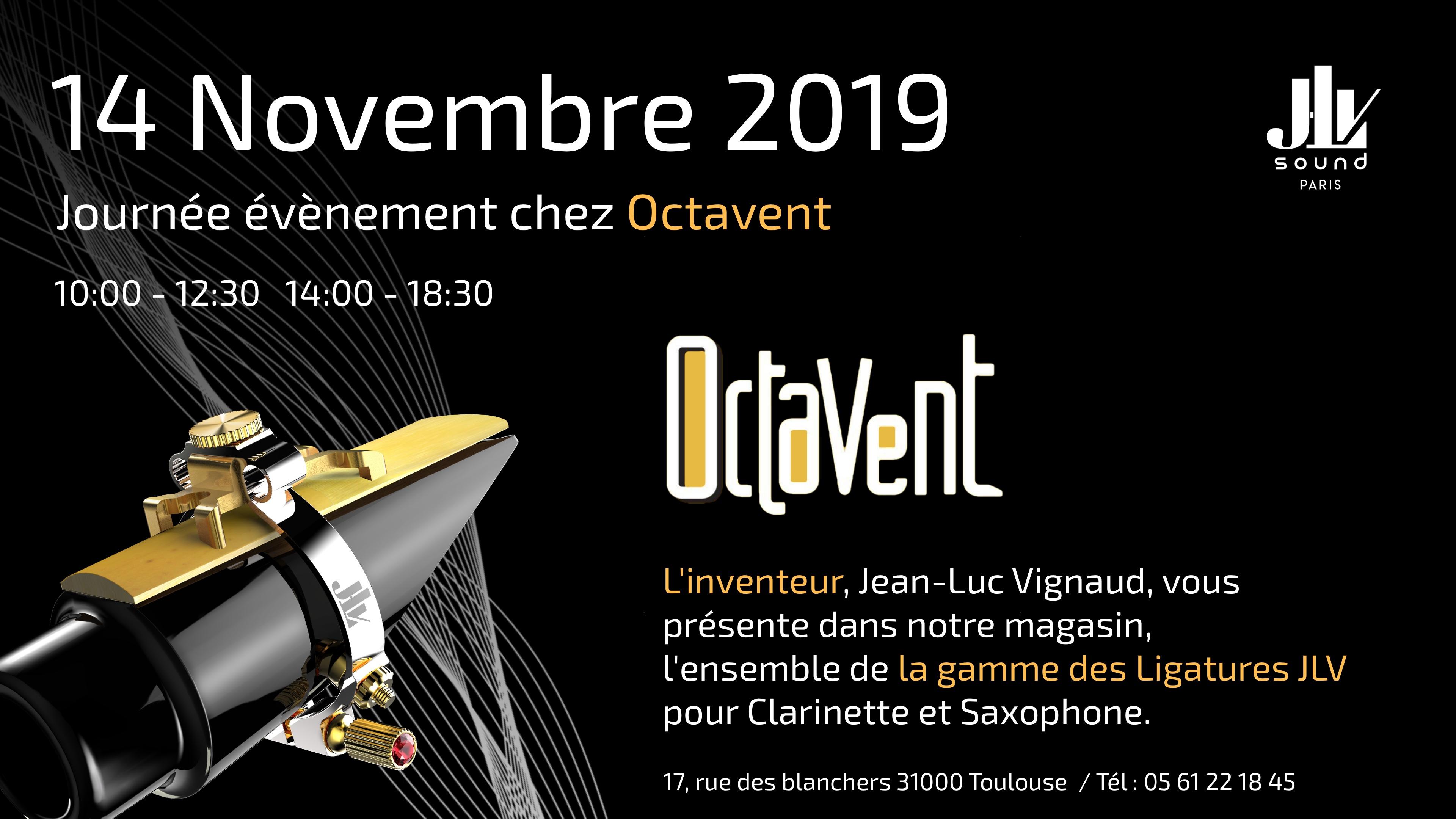 Octavent 14 novembre 2019 présentation de la gamme des Ligatures JLV
