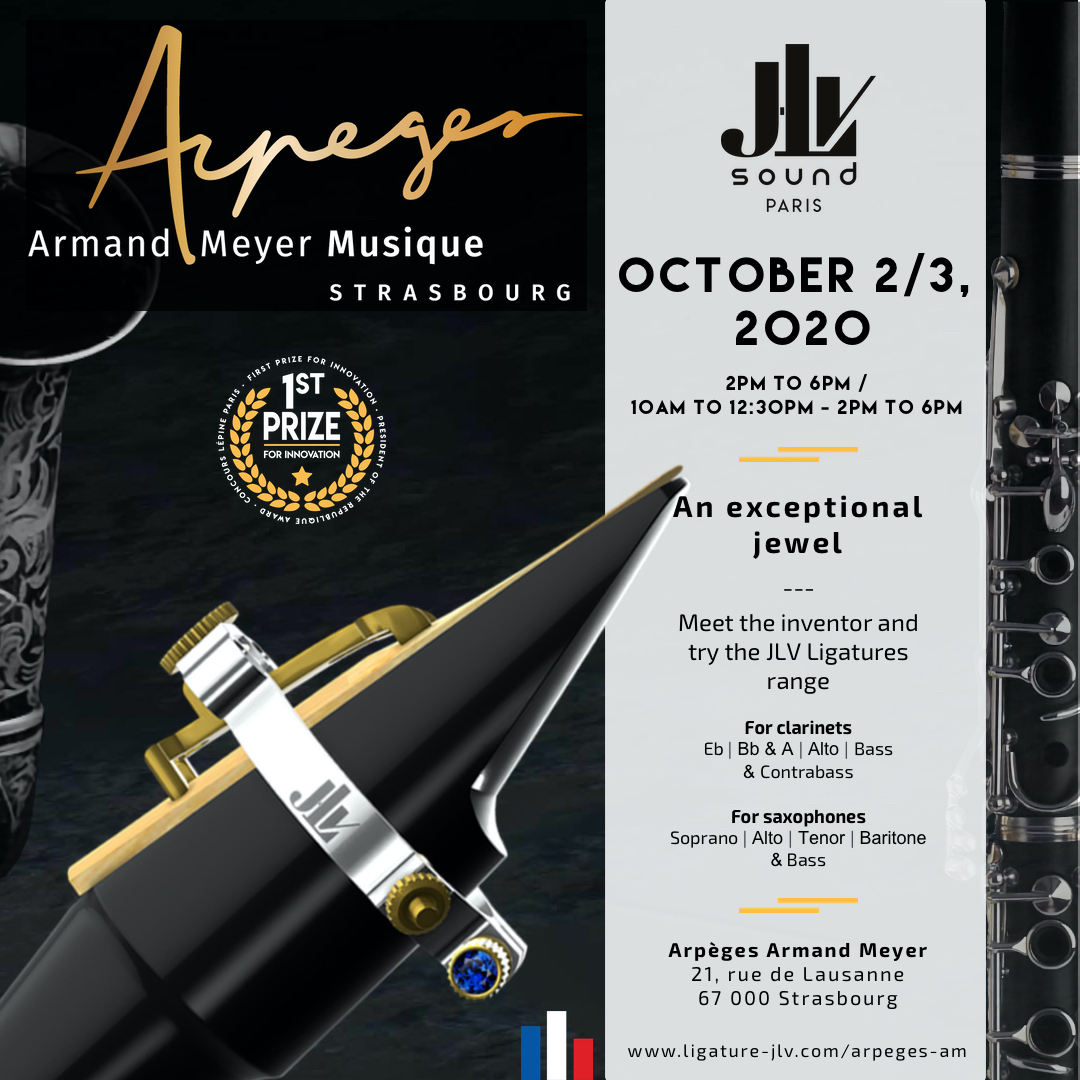 Communication Arpèges Armand Meyer Event - Presentation of the JLV Ligature for clarinet and saxophone