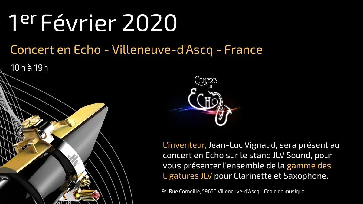 """1er février 2020 CONCERTS EN ECHO 5ème EDITION avec Philippe GEISS """"Musique et Espace"""" présentation de la gamme des Ligatures JLV"""