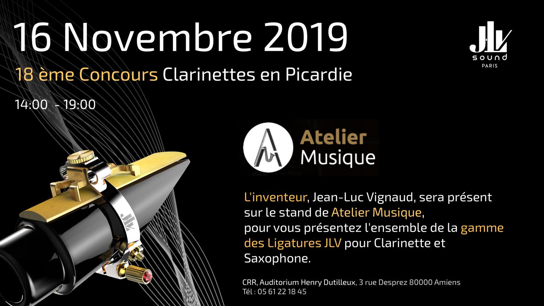 Atelier Musique Concours de Clarinette en Picardie 16 novembre 2019 présentation de la gamme des Ligatures JLV