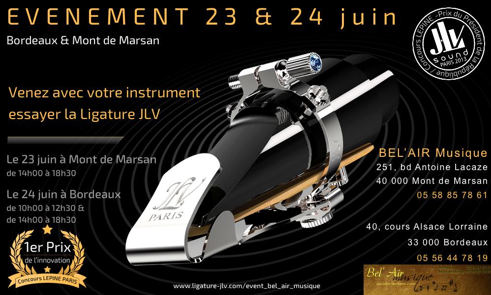 Evénement Bel'Air Musique le 23 & 24 juin 2016 à Bordeaux et Mont-de-Marsan
