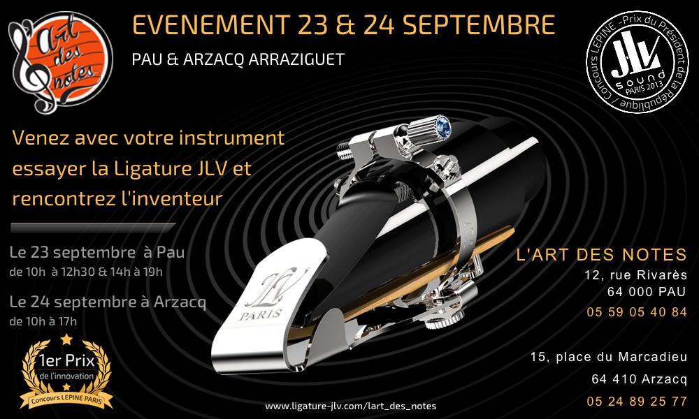 Evénement L'art des Notes le 23 & 24 septembre 2016 à Pau et Arzacq