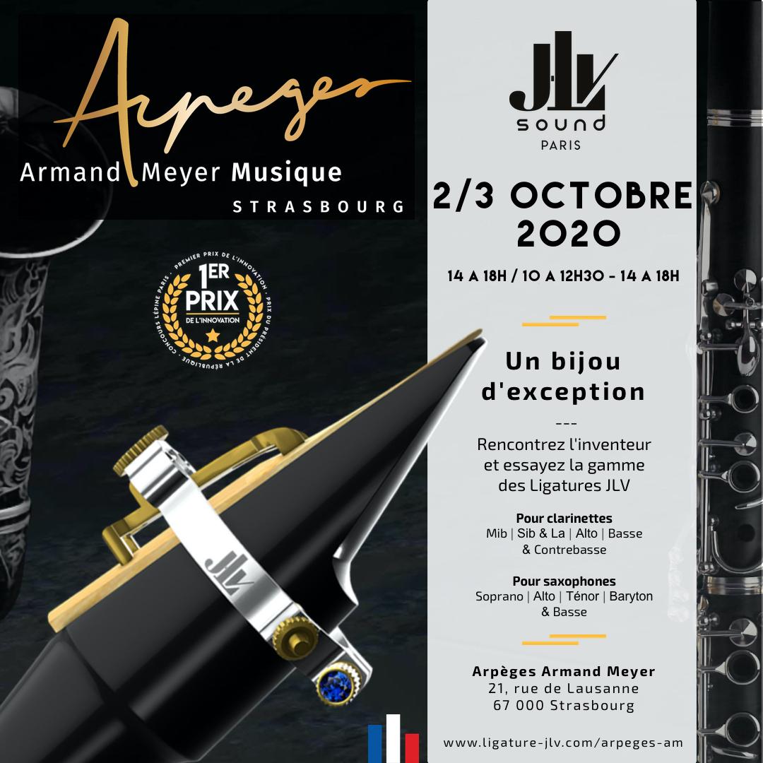 Communication Evénement Arpèges Armand Meyer - Présentation de la Ligature JLV pour clarinette et saxophone