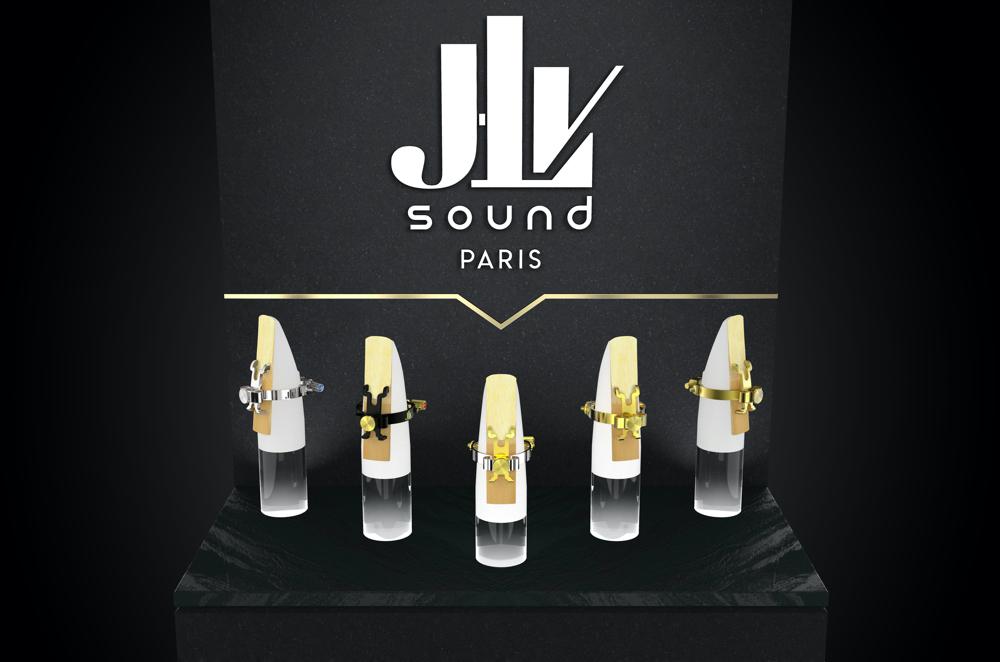La gamme des Ligatures JLV pour clarinette et saxophone