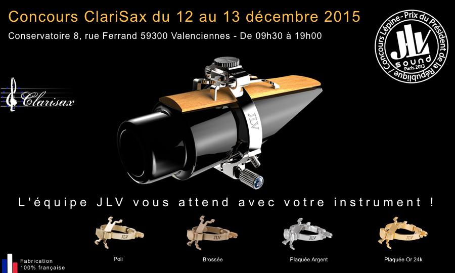 Concours ClariSax 2015 au conservatoire de Valenciennes pour la présentation des ligatures JLV