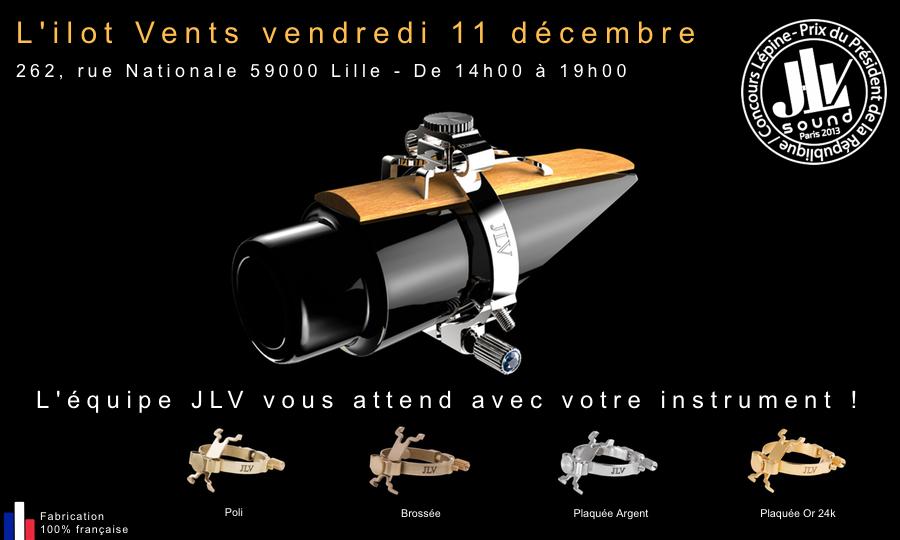 Evénement L'ilot Vents invite Jean-Luc VIGNAUD pour vous présenter la gamme des Ligatures JLV