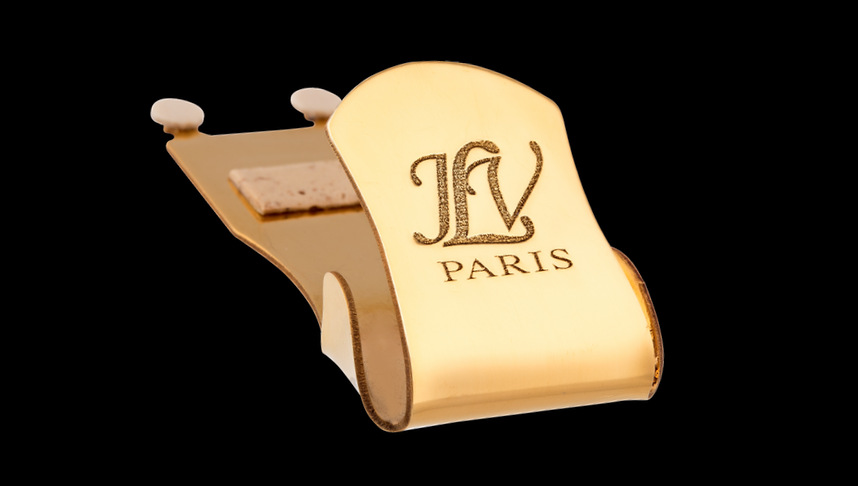 Couvre-bec JLV plaqué or 24 carats pour saxophone & clarinette