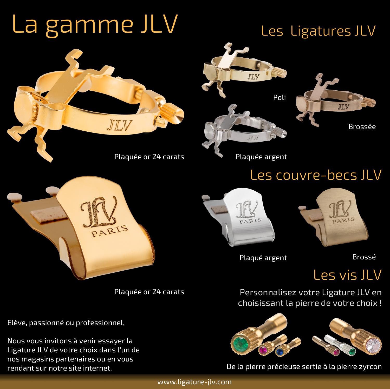 Flyer Ligature JLV pour clarinette & saxophone