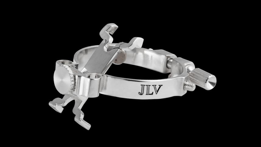 Ligature JLV plaquée argent pour saxophone & clarinette