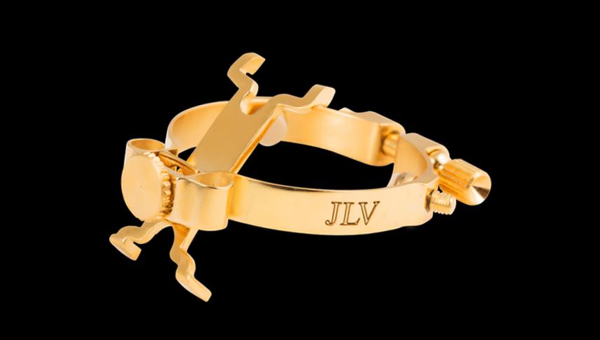 Ligature JLV plaquée or 24 carats pour saxophone & clarinette