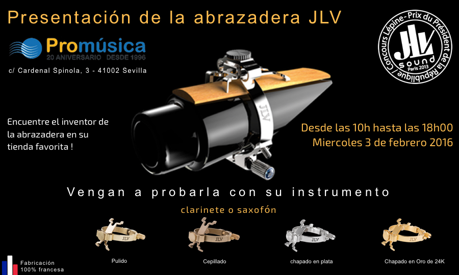 Presentación de la abrazadera JLV
