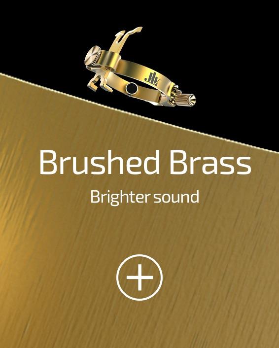 JLV Ligature Brushed Brass for clarinets and saxophones