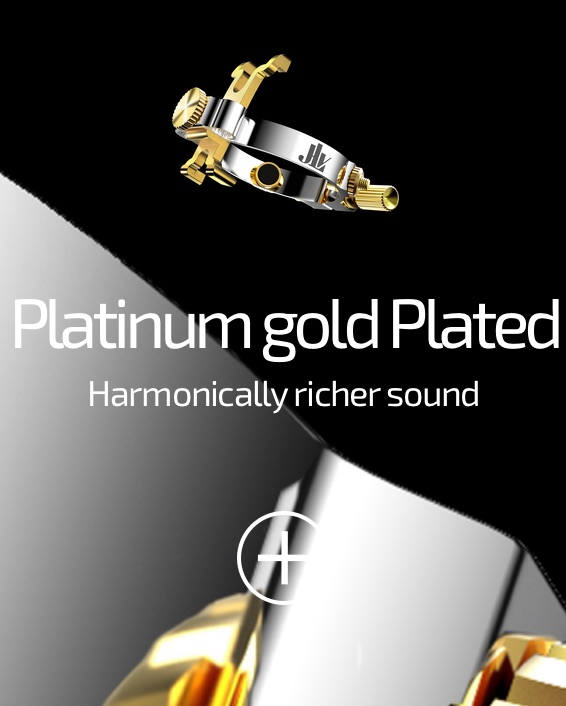 JLV Ligature Platinum and Gold 24K plated for clarinets and saxophones