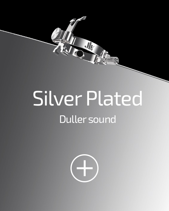 JLV Ligature silver plated for clarinets and saxophones