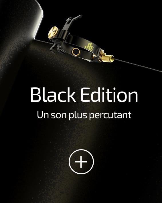 Ligature JLV black edition pour clarinettes et saxophones