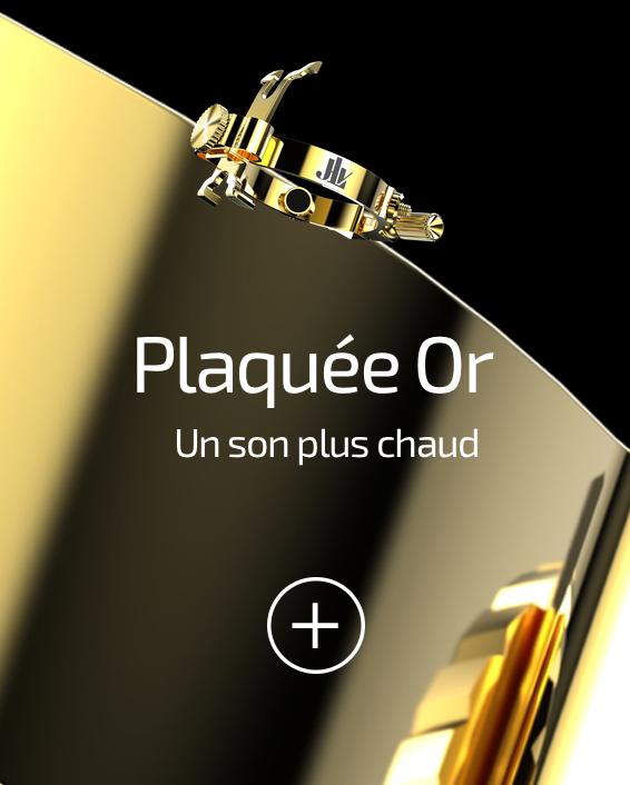 Ligature JLV plaquée or pour clarinettes et saxophones