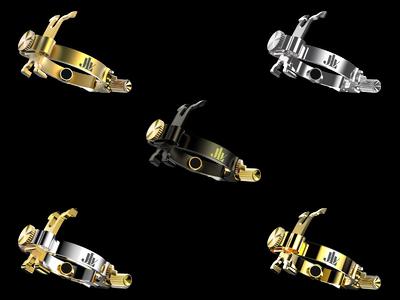 Gamme des Ligatures JLV pour clarinette et saxophone