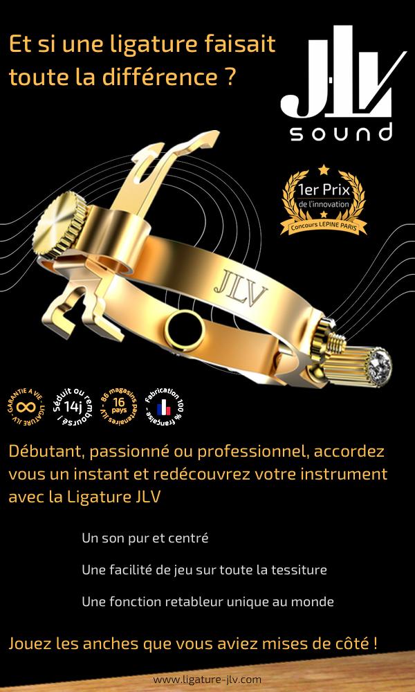 Flyer Ligature JLV pour saxophone & clarinette