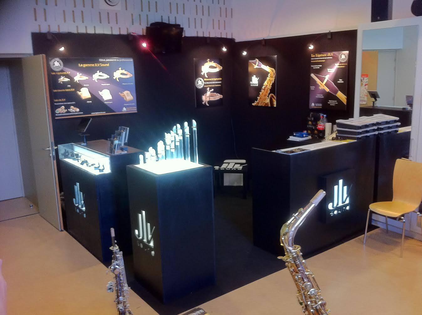 JLV Sound Stand - SAXOPEN 2015 Strasbourg