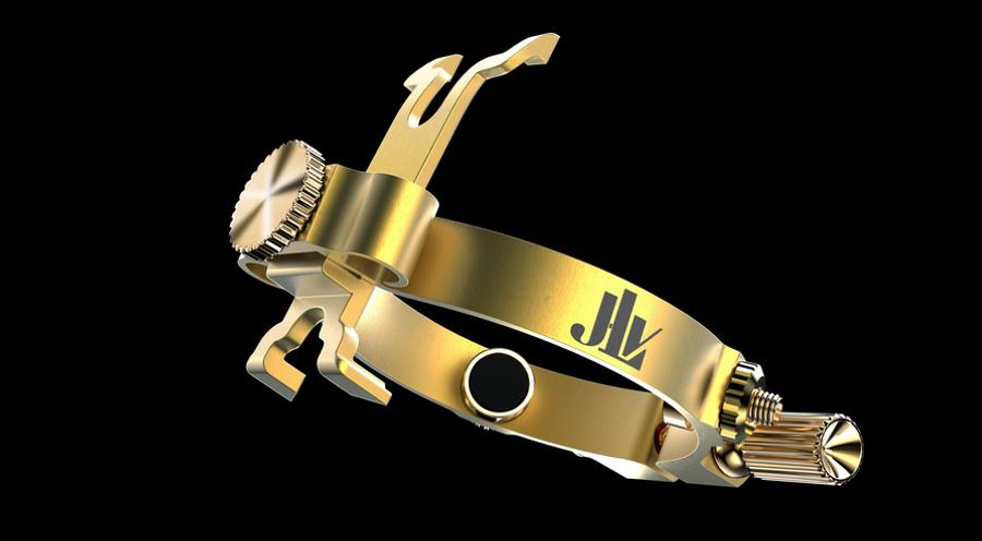 Ligature JLV en laiton brossé pour saxophone