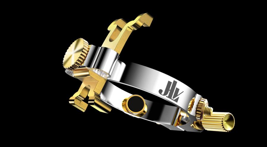 Ligature JLV plaquée platine & or pour clarinette